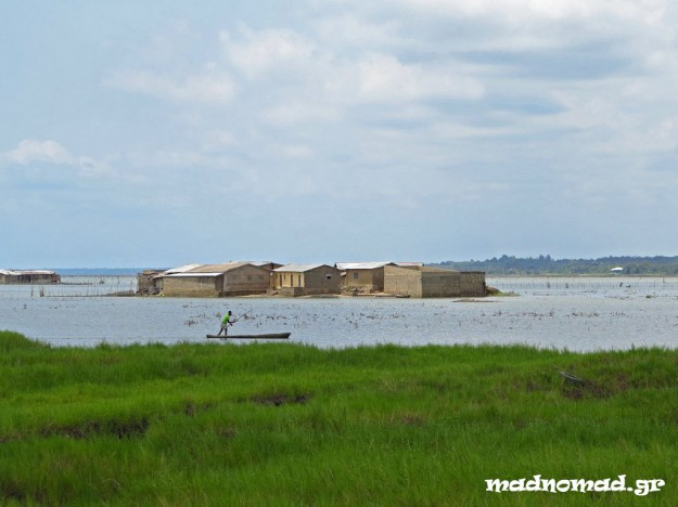 One of the many settlements built in the lakes of Benin.