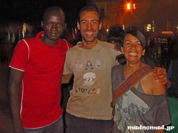 Με τον Cyrille, τον αδερφό του Philippe, στην Ouagadougou!