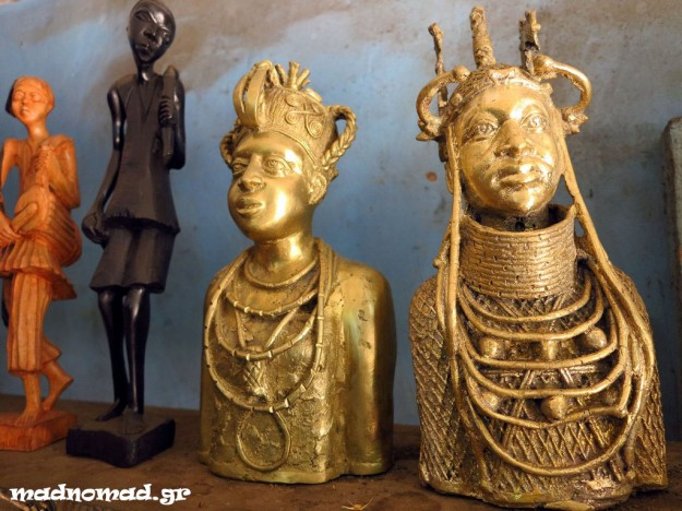 The famous bronze sculptures of Benin City are made with a unique technique which is acknowledged even by UNESCO.