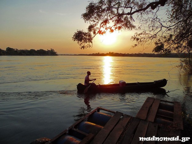 Sunset above the famous Zambezi River...