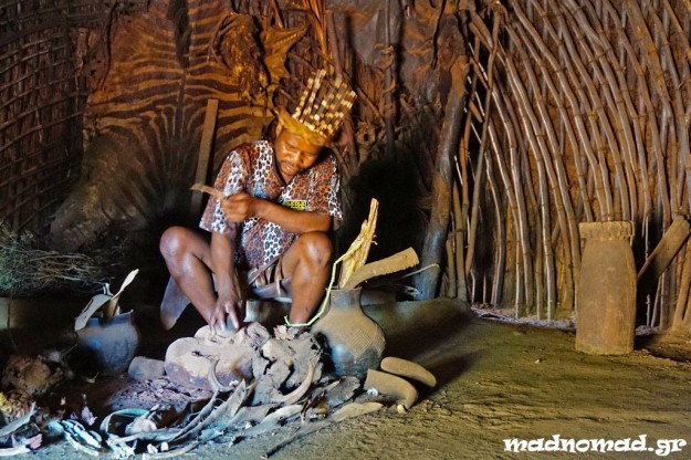 This is a sangoma, a Zulu traditional healer.