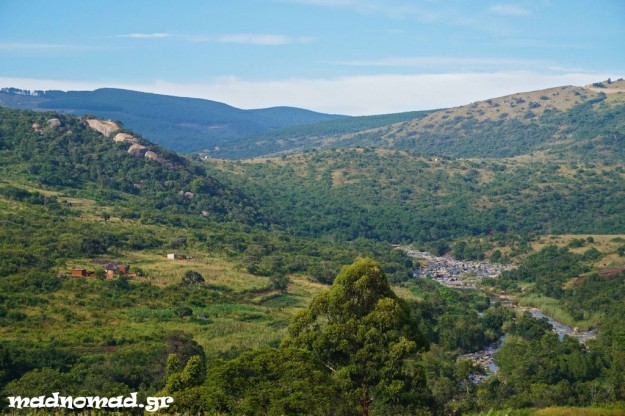 The countryside of Swaziland