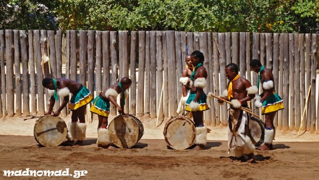 Traditional dancing to the rhythm of the drums!