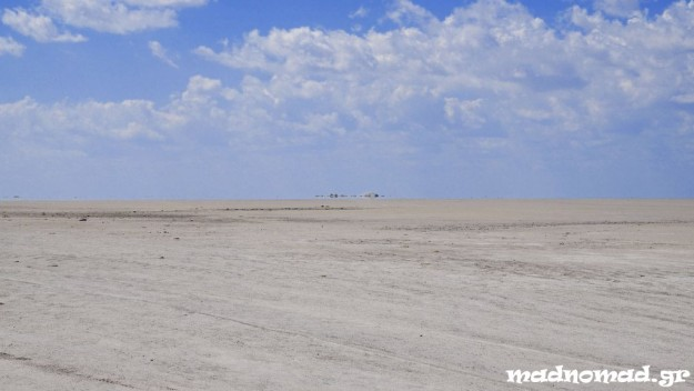 Makgadikgadi Pans, in the area of the Kalahari Desert, are the largest network of salt pans in the world!