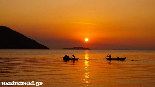 Ηλιοβασίλεμα στο Cape Maclear...