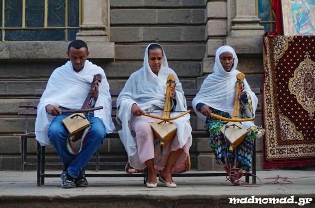 Ορθόδοξη λειτουργία στον Καθεδρικό Ναό του Αγίου Γεωργίου της Addis Ababa