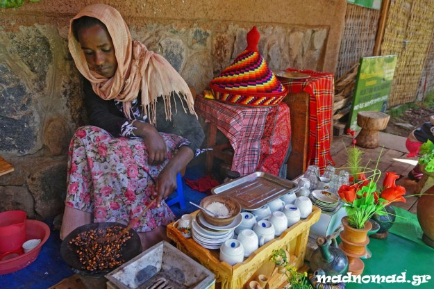 The traditional centuries-old way of preparing the authentic Ethiopian coffee... no additives, no preservatives!