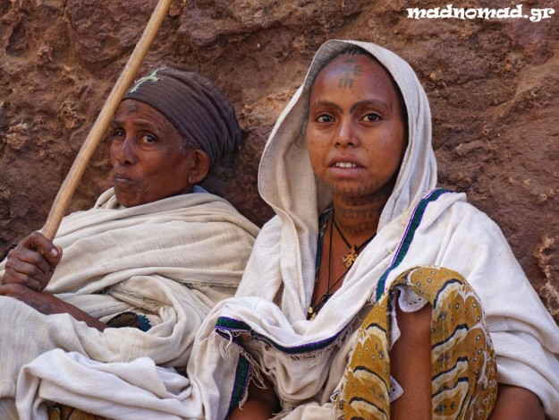Tattoos are an ancient tradition in Ethiopia. Mostly Christian women are marked with them in order to show their strong faith.