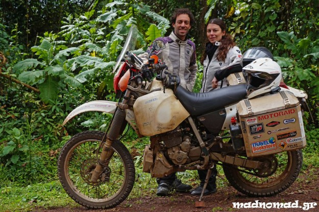 Konstantina Chamou, a Greek friend of mine, joined me for three months to travel Ethiopia and Sudan two-up on my humble Baobabis!