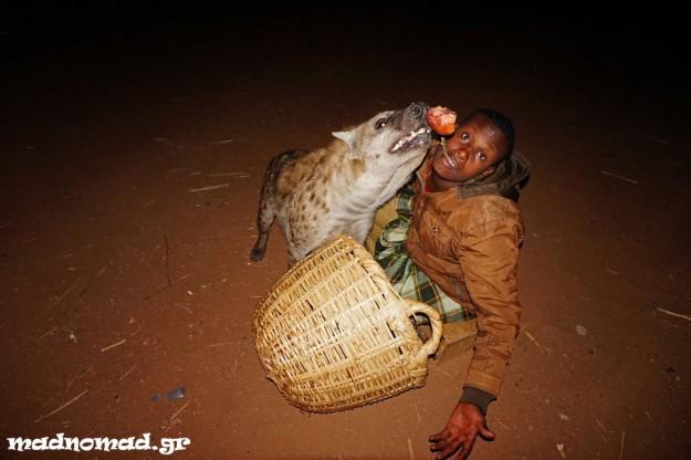 Λόγω μια παράξενης παράδοσης στη Harar, ο κόσμος ταΐζει άγριες ύαινες ακόμη και από στόμα σε στόμα! Το δοκίμασα κι εγώ ;-)