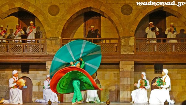 This dervish was spinning for longer than 20 minutes uninterruptedly while performing amazingly well in the Caravanserai of Al-Ghouri! I was surprised he could stand on his feet after that...