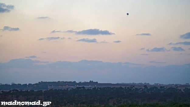 I could only see Gaza from far away... Israeli hot-air balloons film every moment in the Gaza Stip.