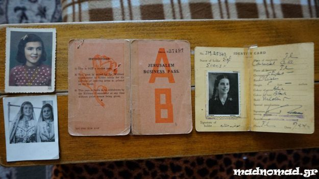 Old IDs and photos of Ms Sophie. On the upper left corner you can see Judith, the Jewish girl who was Ms Sophie's best friend.