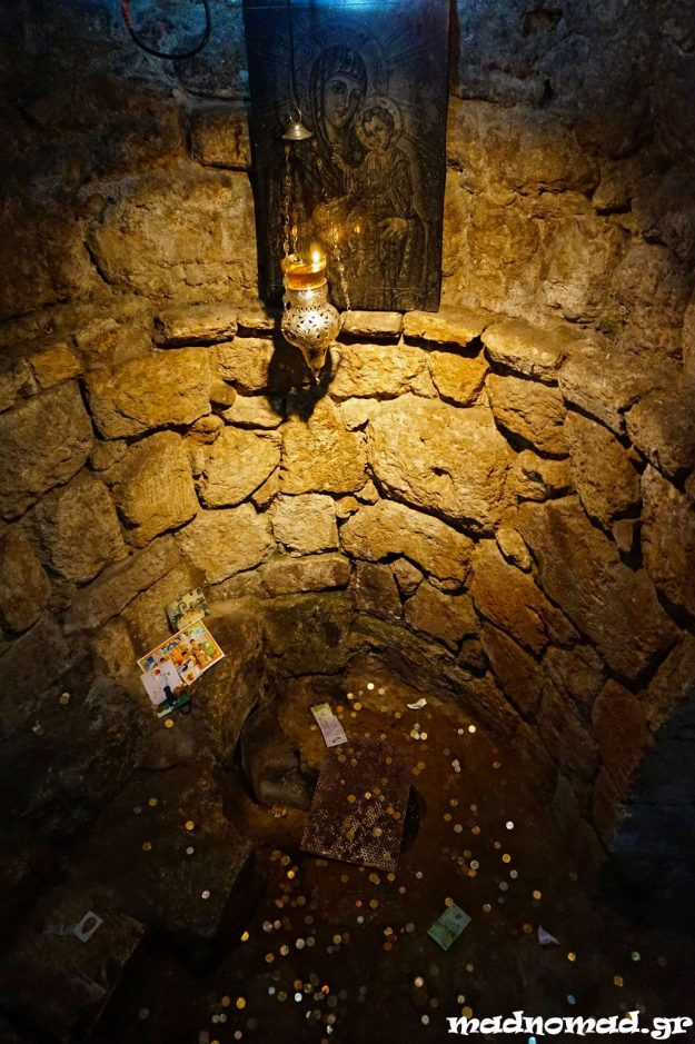 According to Greek Orthodox beliefs, the Annunciation of Virgin Mary happened while she was fetching water, not while she was at home, as other Christian denominations believe. This spot marks Mary's Spring.